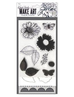 Wendy Vecchi Make Art- Country Flowers Stamp, Die, Stencil Set