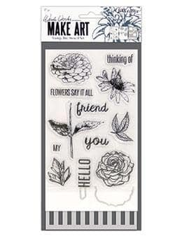 Wendy Vecchi Make Art- Flowers Say it All Stamp, Die, Stencil Set