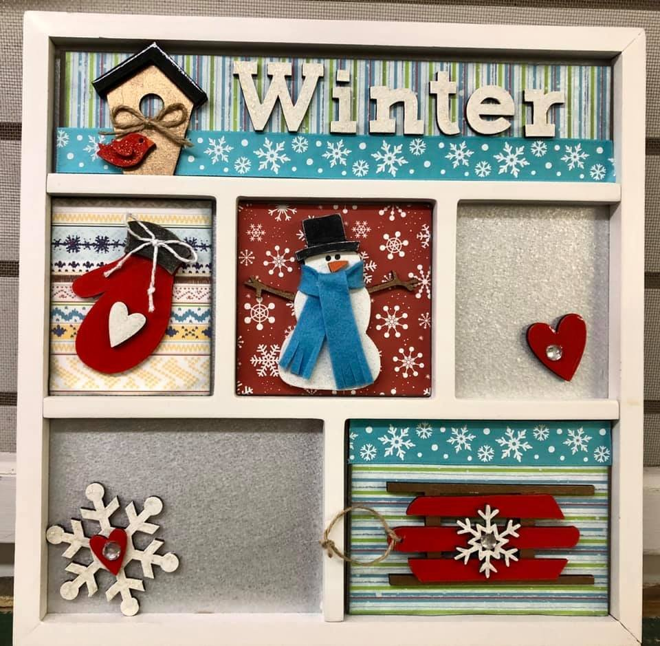 Magnetic Shadowbox Kit - Winter