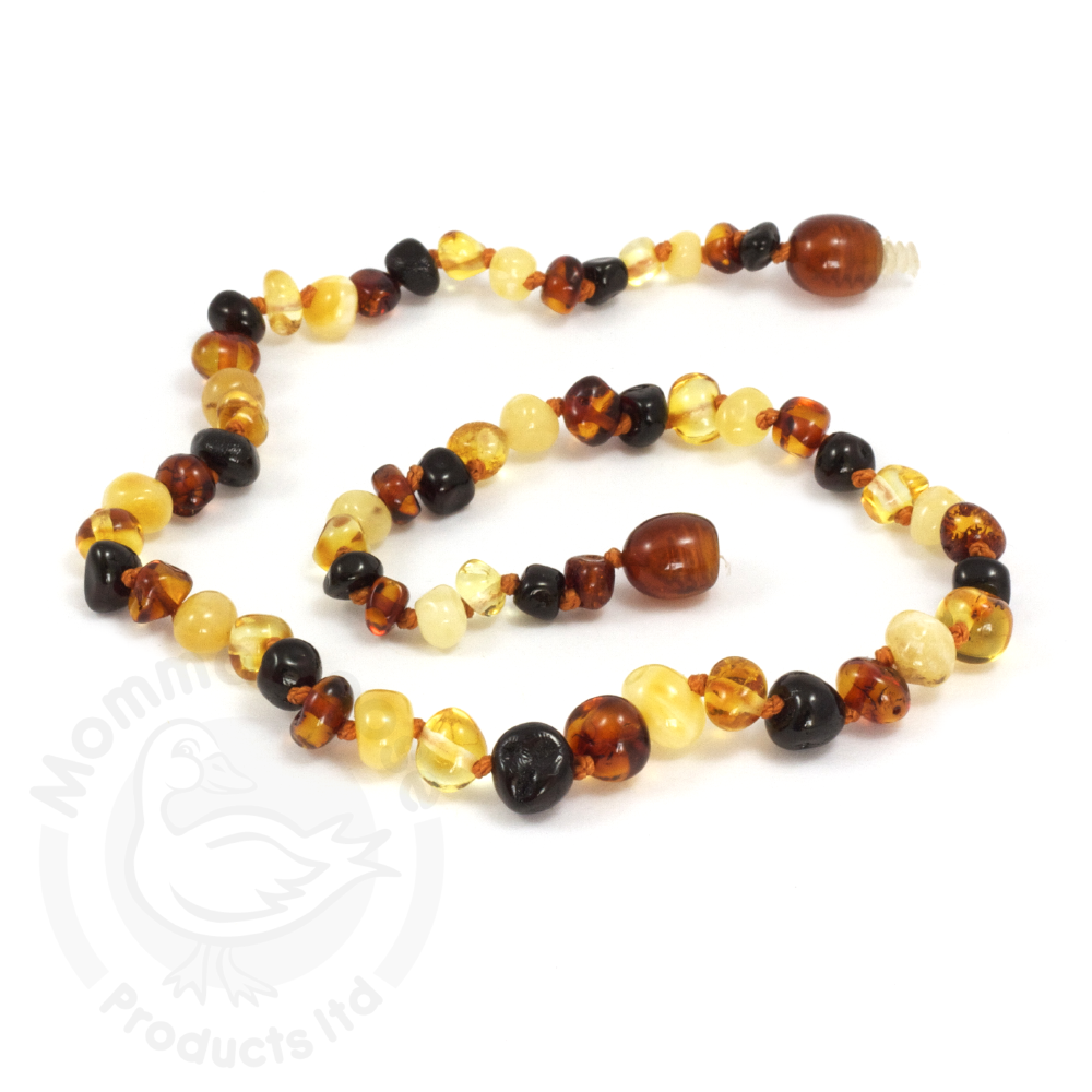 Momma Goose | Amber Necklace | Baroque Multi