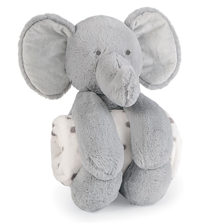 Mudpie | Elephant Plush with Blanket