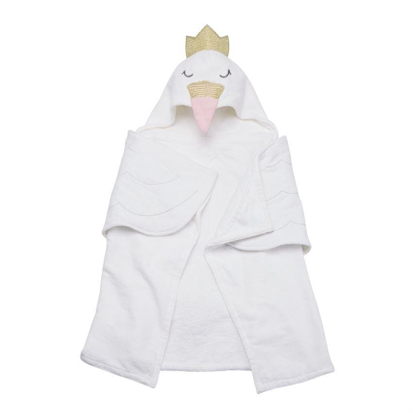 Mudpie | Swan Hooded Towel