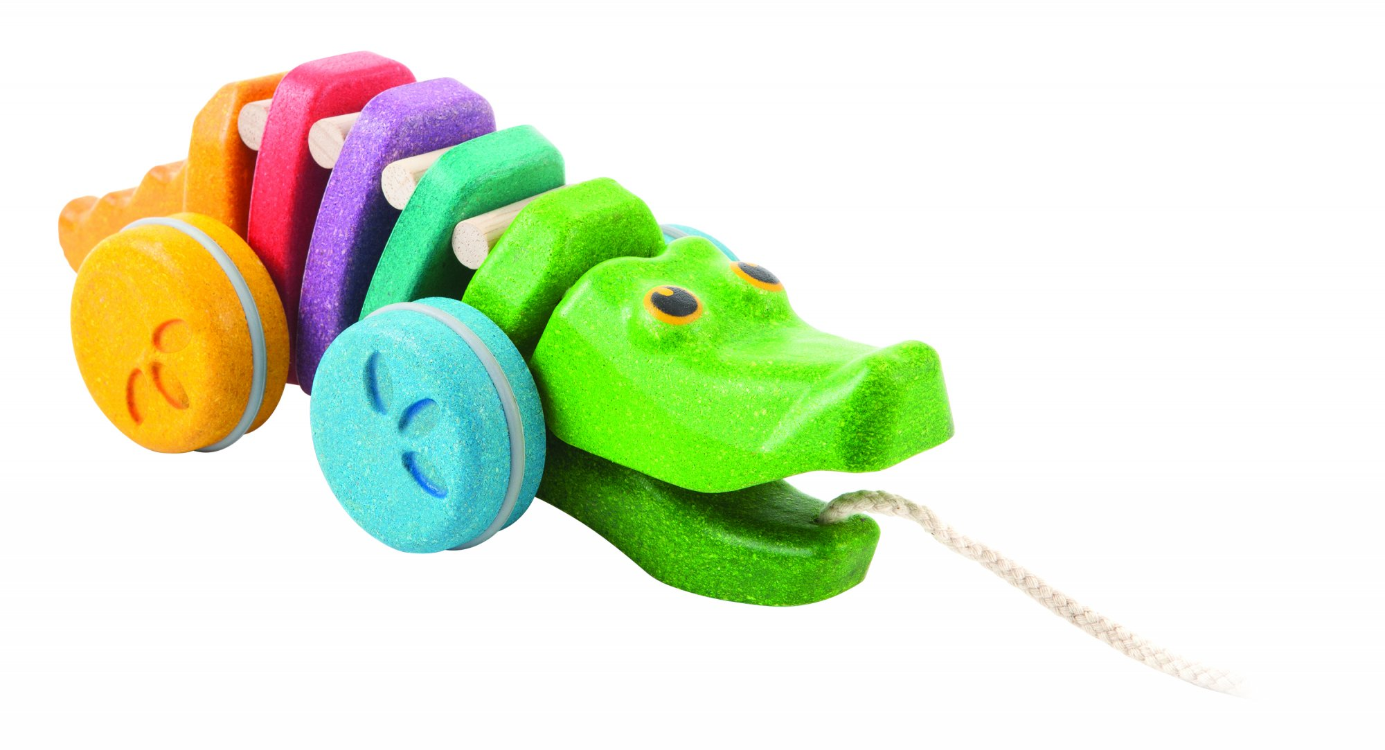 Plan Toys | Dancing Alligator Rainbow Edition
