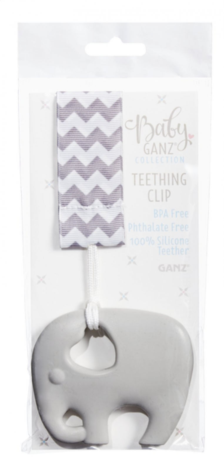 Ganz | Elephant Teething Clip
