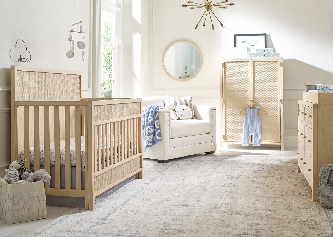 Ellen Degeneres | Gentilly | 2pc Blonde Set (Crib/Double Dresser)