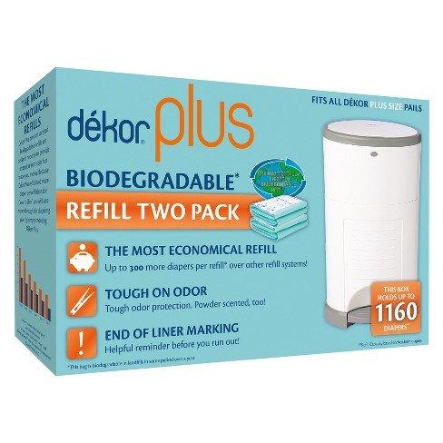 Diaper Dekor Plus   2pc Biodegradable Refills