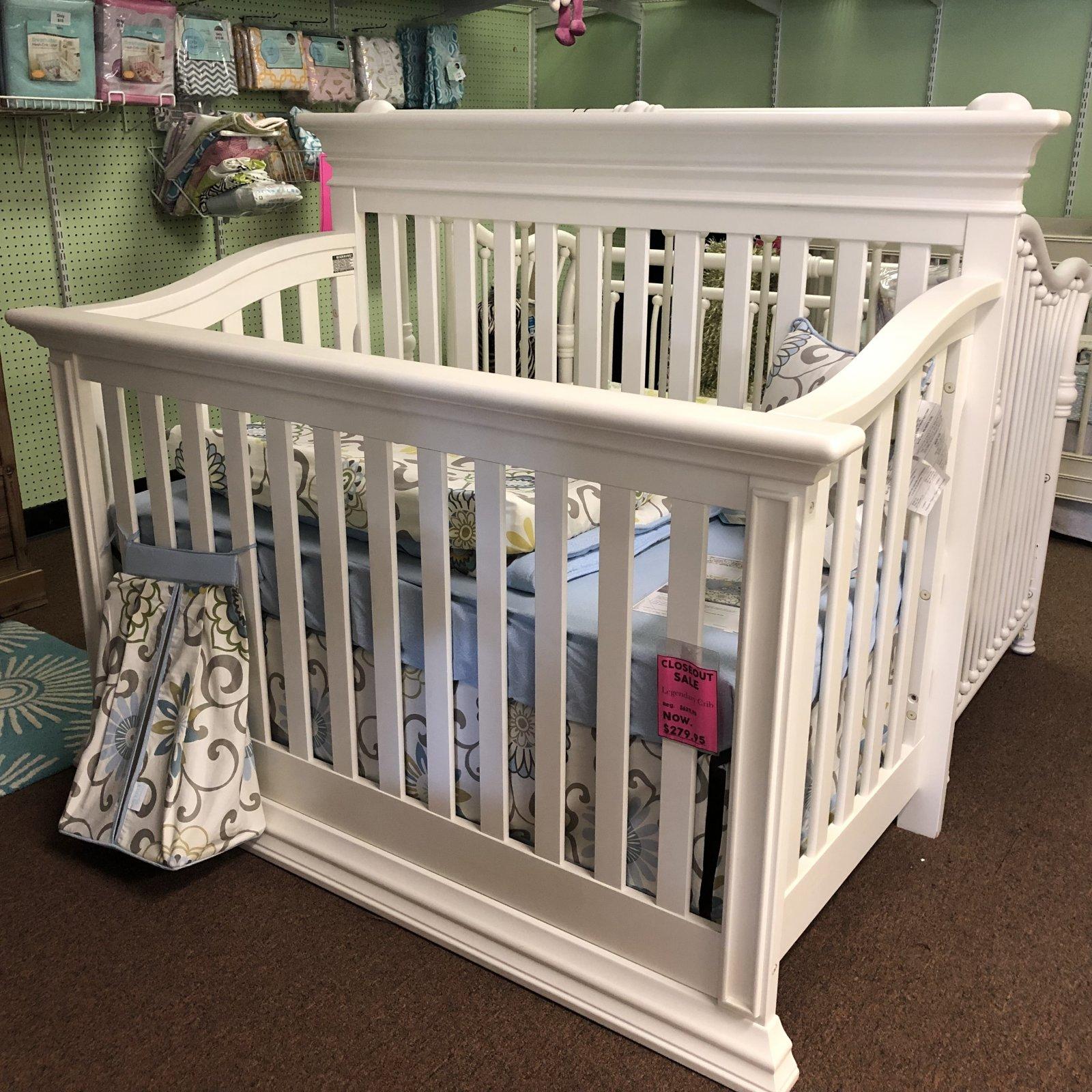 Baby's Dream Legendary Flat Top Crib Snow Drift
