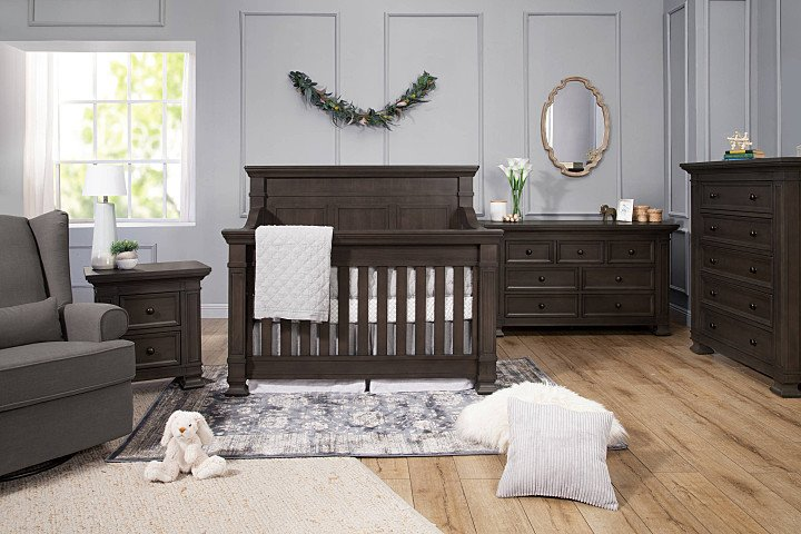 Tillen Espresso 2- Piece Set (Crib & Double Dresser)