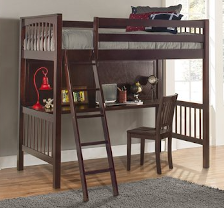 NE Kids | Pulse | Twin Loft Bed w/ Desk