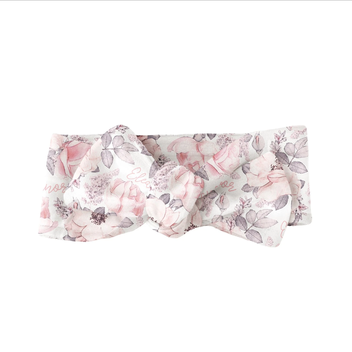 Sugar + Maple   Personalized Bow   Wallpaper Floral