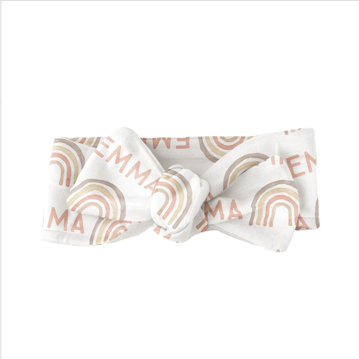 Sugar + Maple | Personalized Bow | Rainbow Neutral