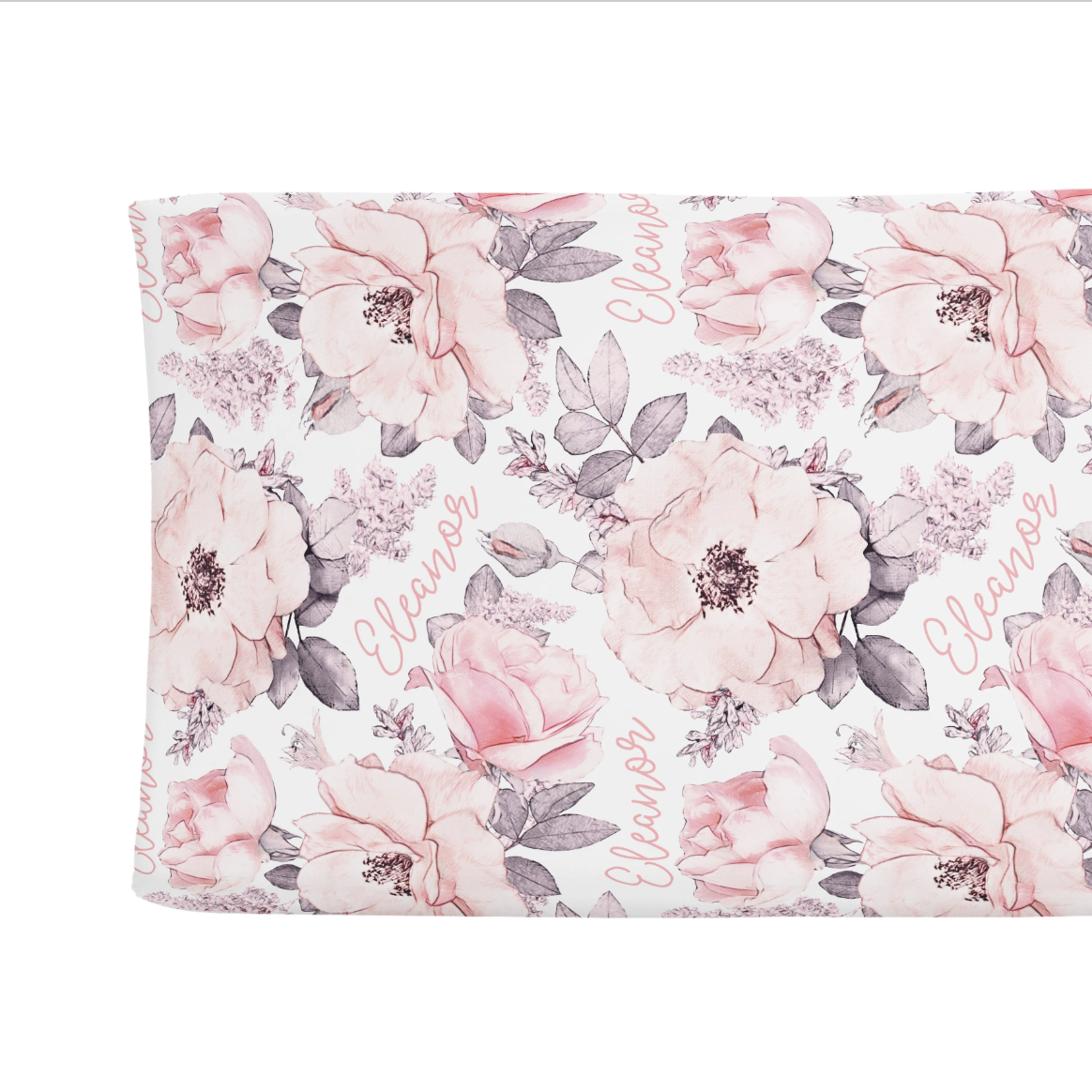 Sugar + Maple | Personalized Changing Pad Cover | Wallpaper Floral