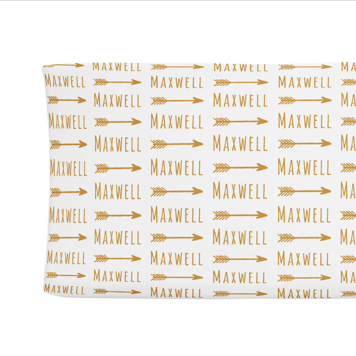 Sugar + Maple   Personalized Changing Pad Cover   Arrow