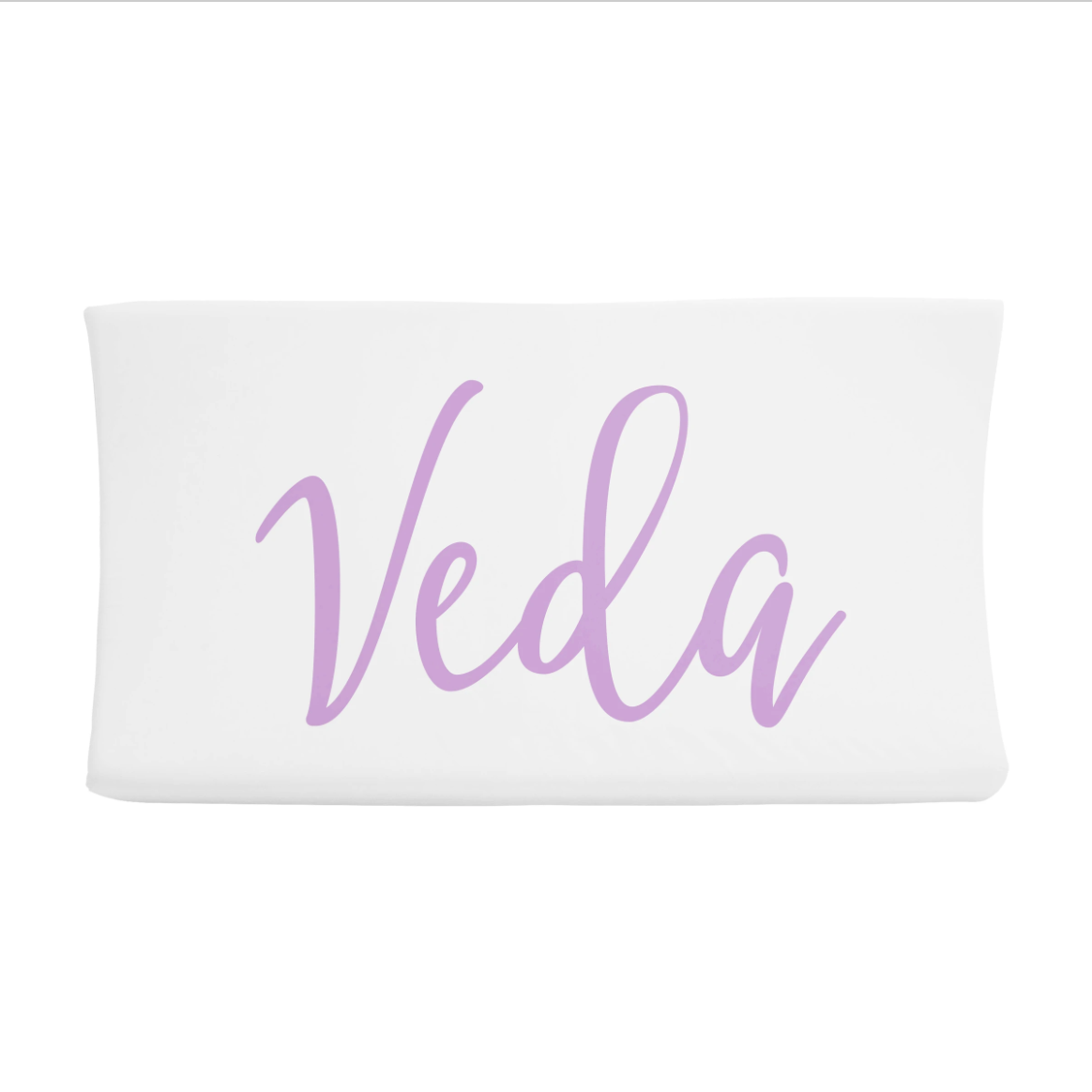 Sugar + Maple | Personalized Changing Pad Cover | Centered Name