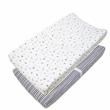 American Baby Company | Changing Pad Cover | Navy Sports