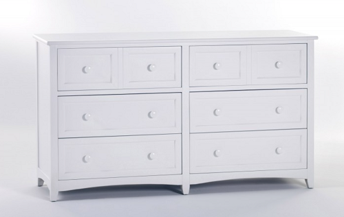 Schoolhouse White Double Dresser