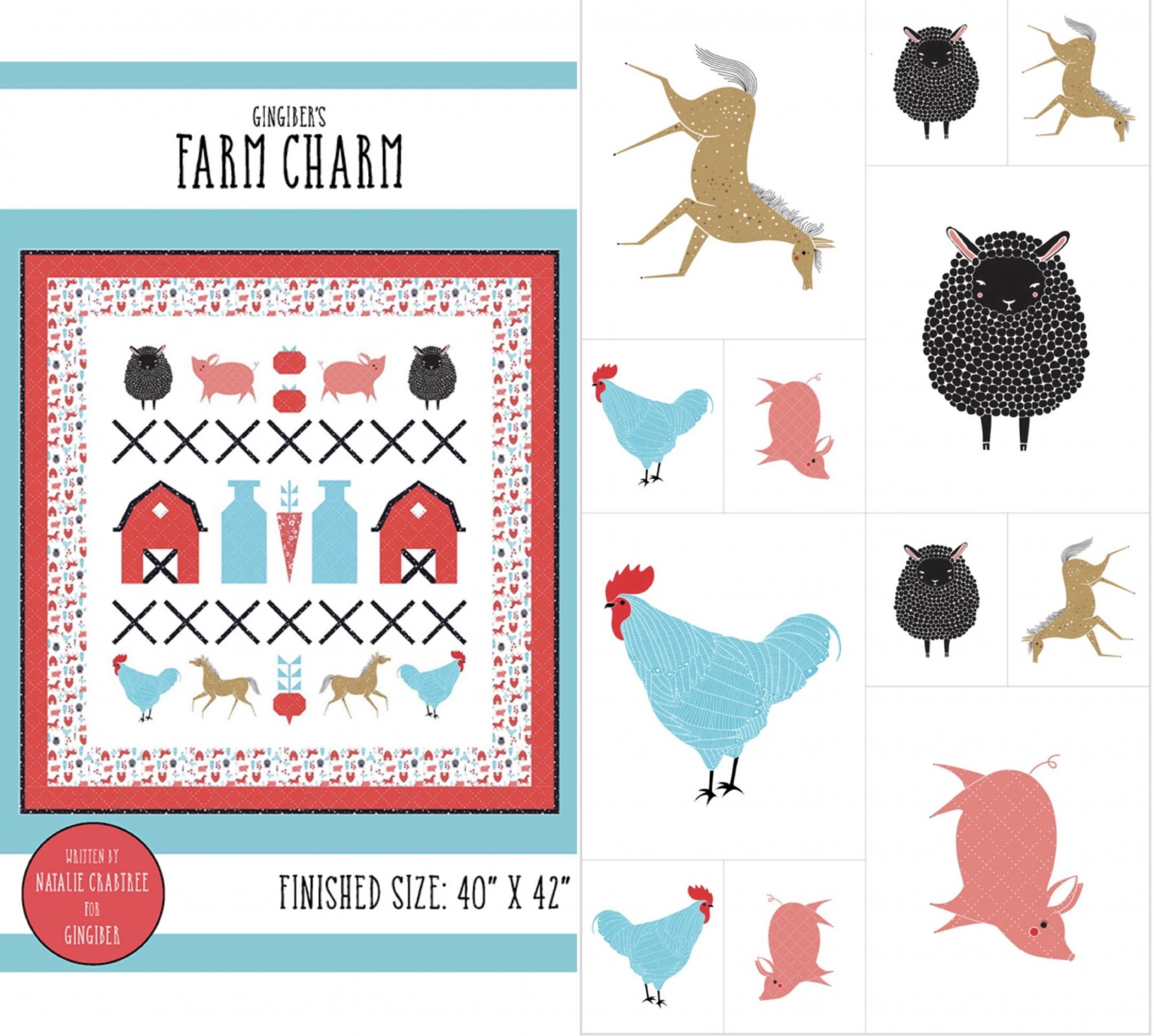 Farm Charm Pattern with Panel