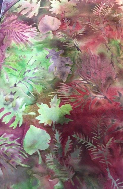 Island Batik - Mixed Floral Leaves