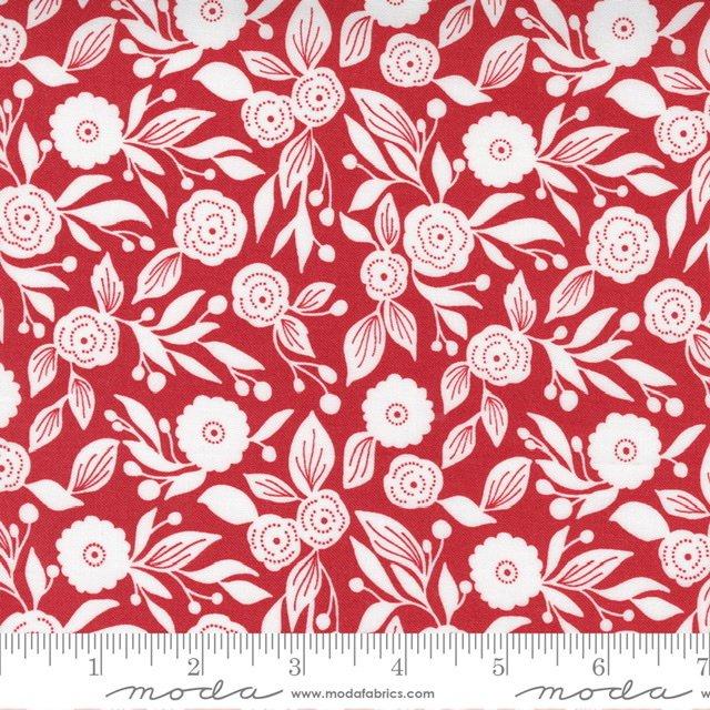 Christmas Morn Flora Cranberry 5143 16