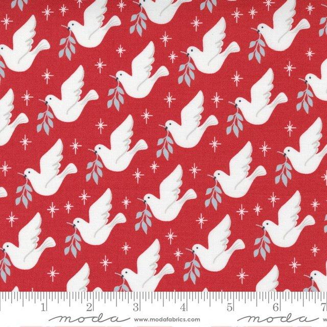 Christmas Morn Dove Cranberry 5141 16