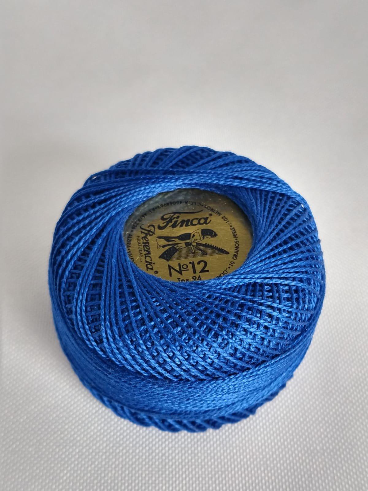 Finca Perle Cotton  Sz 12 - #3405 Royal Blue