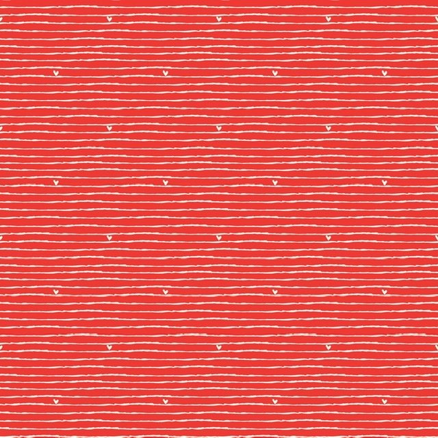 From the Heart - Stripe Red C10054R