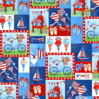 Star Spangled Summer  - Patchwork Motifs