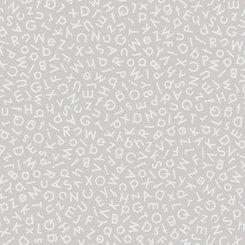 Quilting Illusions - Gray Alphabet