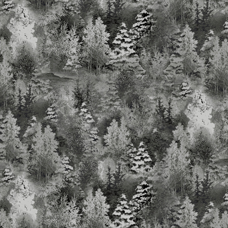 Back Home - Pine Trees Charcoal