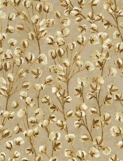 Harvest Metallic - CM7698 Cotton Blooms