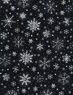 Holiday (Gail) Chalk Snowflakes - Black
