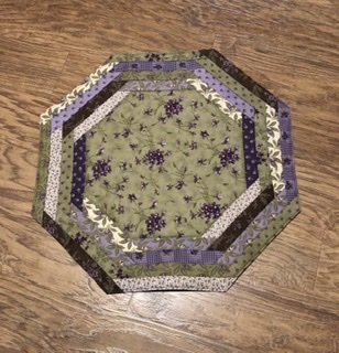 Sweet Violet  CP Tablemat (Pattern Sold Separately)
