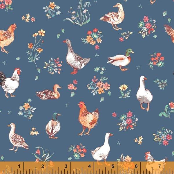 Farm Meadow - Fowl Blue