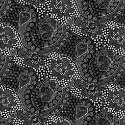 Opposites Attract - Linear Floral Black