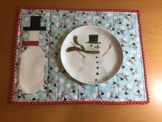 Winter Time (Snowman) Placemat Kit
