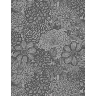 Wide Back Dark Grey Floral Toile (108)