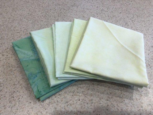 Batik Green #3 - Five Pack