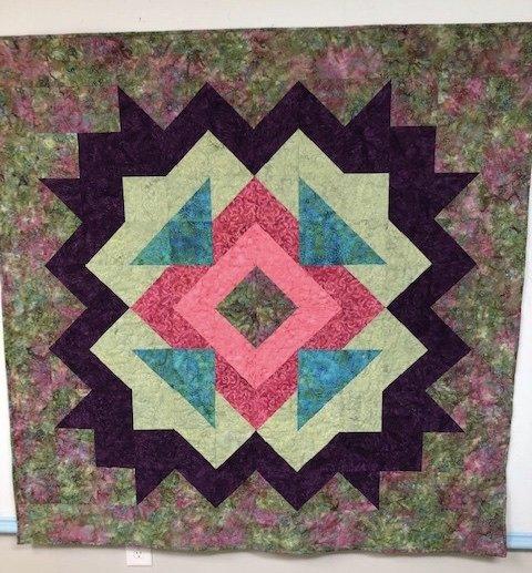 Abstract Floral (Batik) Quilt Kit