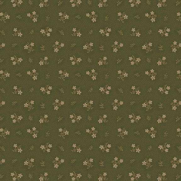 Country Meadow-Sweet Flower - Olive 1714