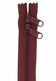 30 inch Zipper - Dbl Slide 270 Cranberry