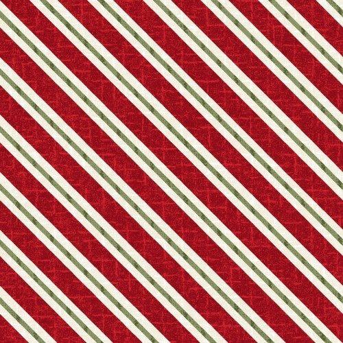 Snowdays Flannel - Candy Cane Stripe Red 9937R