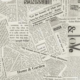 Wide Back - Newsprint (108)