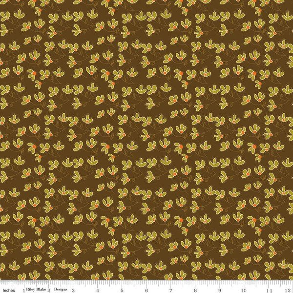 Give Thanks C9523 Blossoms Brown