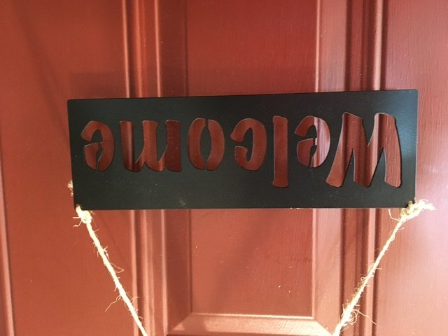 Metal Quilt Welcome Sign