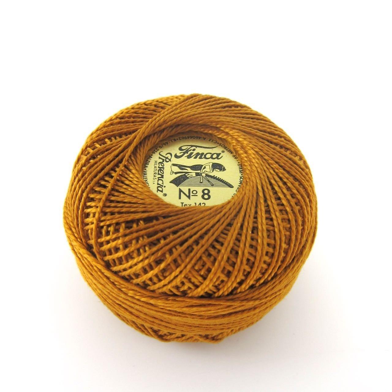 Finca Perle Cotton  Sz 8 - #1072 Golden Brown