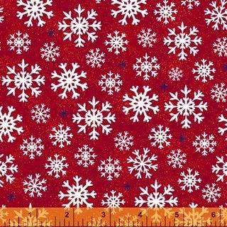 Christmas USA - Snowflakes Red