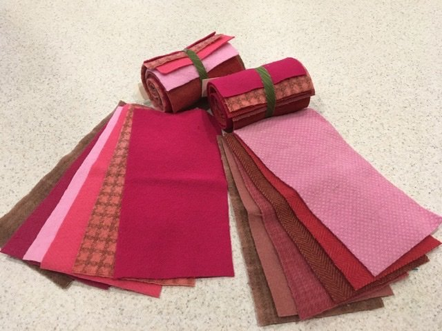 Wool 4x8 - Pink Roll Up