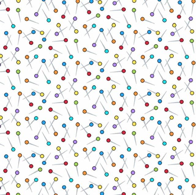 Sew Happy A-9870-L Dropped Pins (white)
