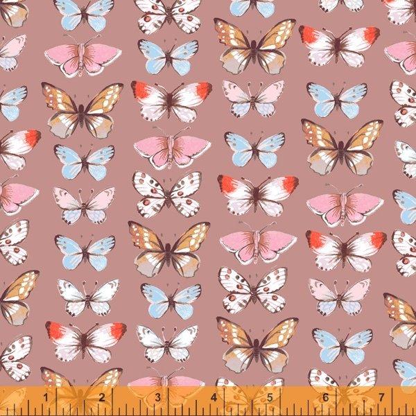 Farm Meadow - Butterflies Mauve