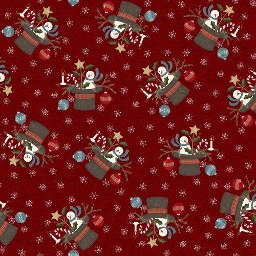 Snowdays Flannel - Santa Hat Red 9933R